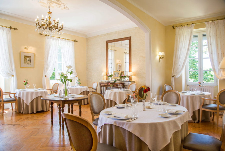 chateau bellevue restaurant dessert gers cazaubon