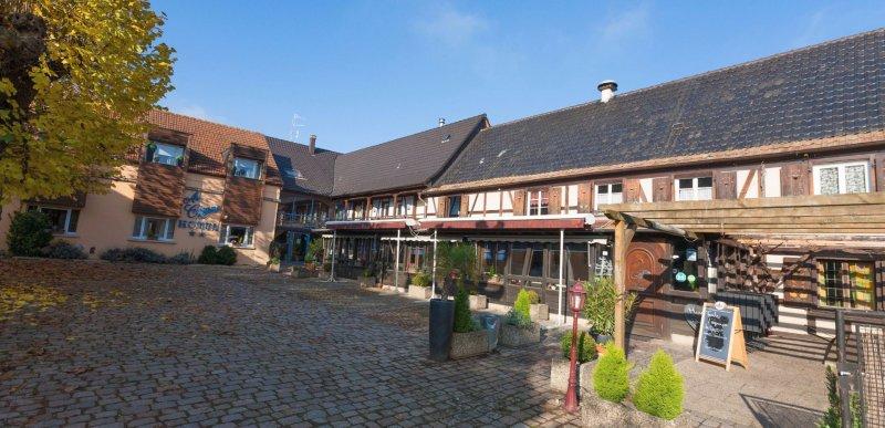 Hotel Eschau Strasbourg terrasse