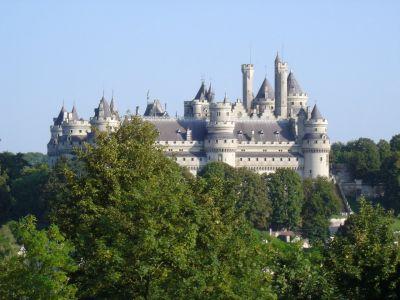 Chateau de Pierrefonds vu depuis le Parc