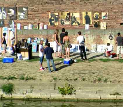 La Garonne expose touts les dimanches de mai, juin, septembre et octobre