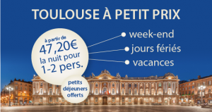 20% de remise sur vos Weekends pas cher à Toulouse