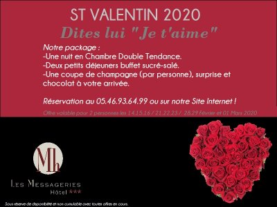 """Notre package """"St Valentin 2020"""""""