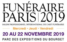 FUNÉRAIRE PARIS 2019, salon de référence pour les professionnels de l'Art Funéraire, se tient du 20 au 22 Novembre 2019 au Parc des Expositions Paris Le bourget