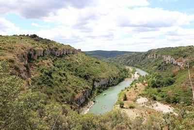 Les Gorges du Gardon et le site de La Baume Saint-Vérédème