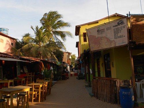 Shops and Restaurants in Jericoacoara