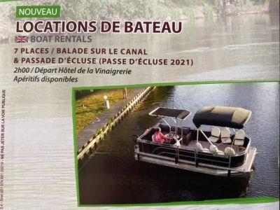 Bateau Balade au Port de l'Hôtel de la Vinaigrerie